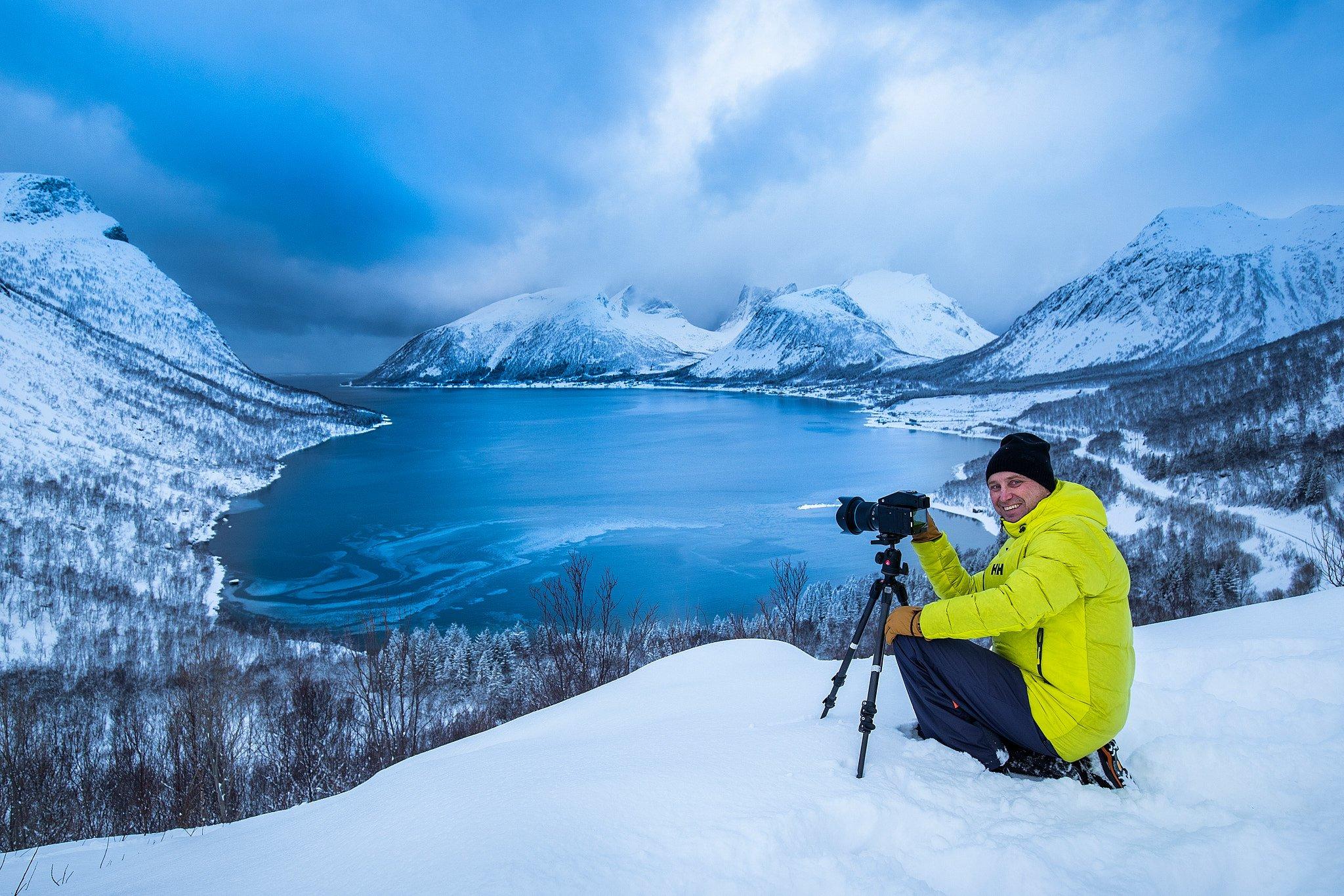 Mikael Helsing trabajando en Noruega con su XF en 2019
